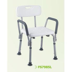 Elegant shower chair with removable armrests (7985L)