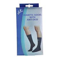 Diabetic Socks With Anti-Skid, white