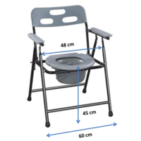 Wide foldable commode chair  (8991)