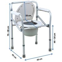 Aluminium commode chair (894L)