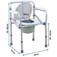 Aluminium commode chair (894L)