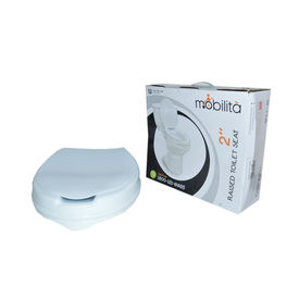 Raised Toilet Seat with lid, 2