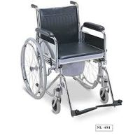 Wheelchair commode with detachable armrests and footrests - CC681