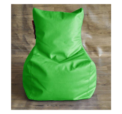 Style Homez Chair Filled Bean Bag,  green, l