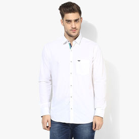 Park Avenue Solid Slim Fit Shirt, s,  white