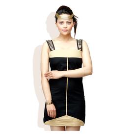 ADAM N EVE Black Casual Dress, xl,  black