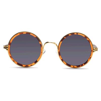 JRS S18C4378 Smoke Tinted Round Sunglasses