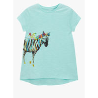 Next Aqua Blue Longline Zebra Casual Top, 3-4 y
