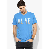 Tom Tailor Alive Printed T-Shirt, l,  yellow