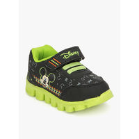 Disney Mickey Mouse Black Running Shoes, 25