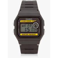Casio Black/Brown Resin Digital Watch