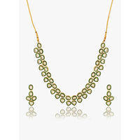 Voylla Kundan Embellished Necklace Set For You