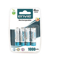 Envie Ni-Cd Rechargeable Battery AA 1000mAh