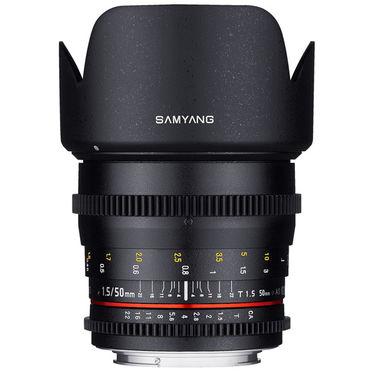 Samyang 50mm T1.5 AS UMC VDSLR Cine Lens for Canon, Nikon