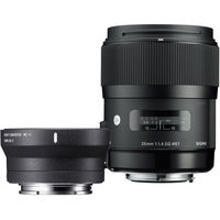 Sigma 35mm f/1.4 DG HSM Art Lens for Canon DSLR Cameras+ Mount Converter MC - 11 (Combo kit)