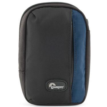 Lowepro Newport 30 Camera Pouch, black/galaxy blue