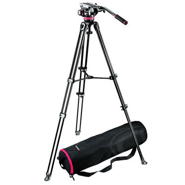 Manfrotto MVK 502AM - Video Telescopic Twin Leg TripodKit