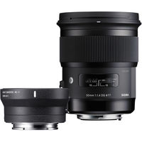 Sigma 50mm f/1.4 DG HSM Art Lens for Canon EF+ MC-11 Mount Converter(Combo kit)