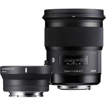 Sigma 50mm f/1.4 DG HSM Art Lens for Canon EF+ MC-11 Mount Converter(Combo kit)
