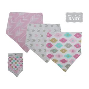 3pc Bandana Bibs, baby neutral