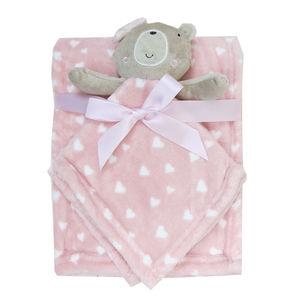 Fleece Balnket & Toy, baby neutral