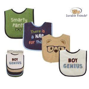Drooler Bib 4pk-Boy Genius, baby boy