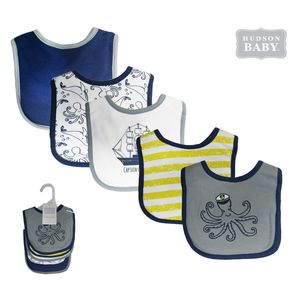 Interlock Drooler Bib 5Pk, baby neutral