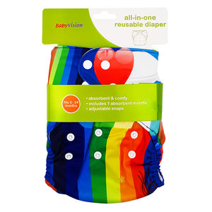 BabyVision - All In One Printed RAINBOW Diaper Pack, baby girl
