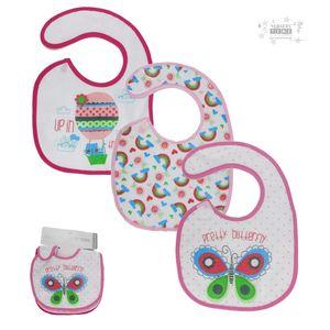Baby Bibs Girls With PEVA Back - 3pk, baby neutral