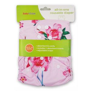 BabyVision - All In One FLOWER Diaper Pack, baby girl