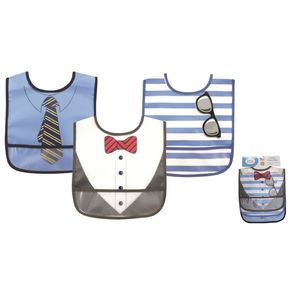 Peva Bib 3pk, baby neutral