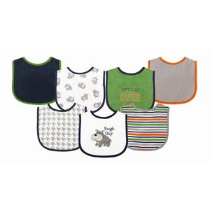 Applique Bib 7 pk, baby neutral