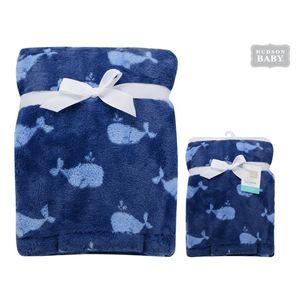 Super Plush Blanket - Whale, baby boy