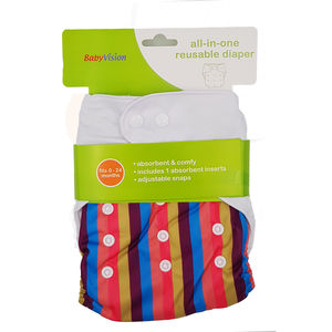 BabyVision - All In One Printed HORSE Diaper Pack, baby girl