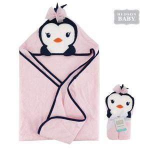 Animal Hooded Towel-Miss. Penguin, baby girl