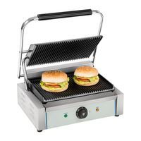 THE URBAN KITCHEN Tabletop Electric Commercial Sandwich Panini Contact Grill