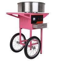 THE URBAN KITCHEN Candy Floss Maker Stainless Steel Candy Floss Machine 20.5 Inch Electric Candy Floss Maker With Cart