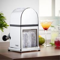 THE URBAN KITCHEN Ice Crusher Hand Crank Ice Grinder Manual Snow Cone Maker - Non-Slip - Easy to Use - Square section