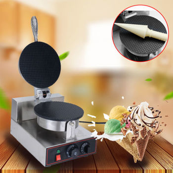 THE URBAN KITCHEN Electric Ice Cream Waffle Cone Egg Roll Maker Commercial Nonstick Stainless Steel Ice Cream Wafflecones Egg Roll Maker Making Machine (Waffle Cone Maker)