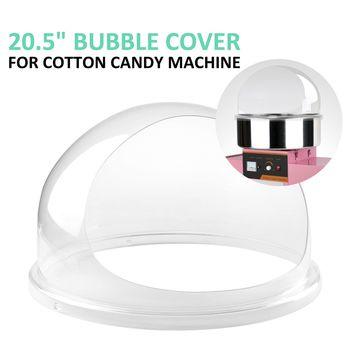 THE URBAN KITCHEN Candy Machine Bubble Shield 20.5 Inch Clear Plastic Cotton Candy Cover for Commercial Candy Maker Machine