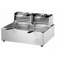 THE URBAN KITCHEN 3000W 12L Electric Counter top Stainless Steel Deep Fryer Single Large Tank Basket Commercial Restaurant