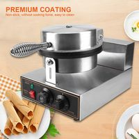 THE URBAN KITCHEN Round Nonstick Electric Stainless Steel Waffle Bake Machine