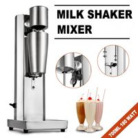 THE URBAN KITCHEN Commercial, Household 220V Stainless Steel Single Head Milkshake Machine, Milk Tea Blender, Cocktail Blender, Silver, Single Head