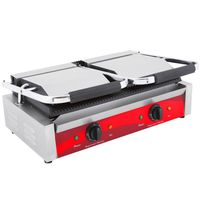 The Urban Kitchen Electric Commercial Double Sandwich Panini Contact Grill