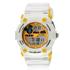Fluid Dmf-00123-Yl01 White/Yellow Digital Watch