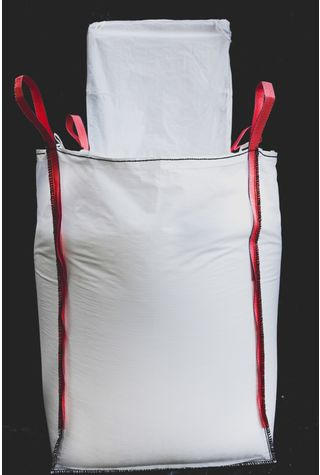 4 Panel Bags, 90x90x150, 1000 kg, 5: 1, Top: Spout, Bottom: Flat