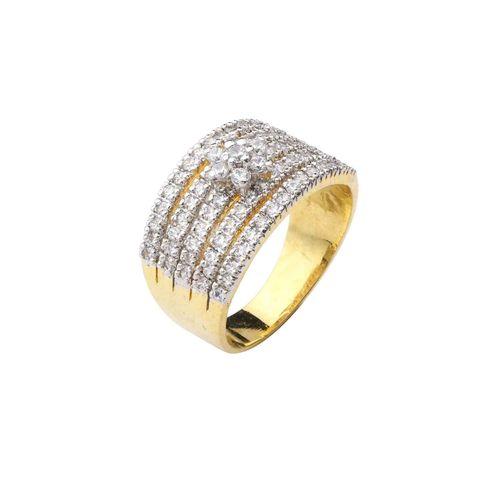5 LINE CZ DIAMOND RING