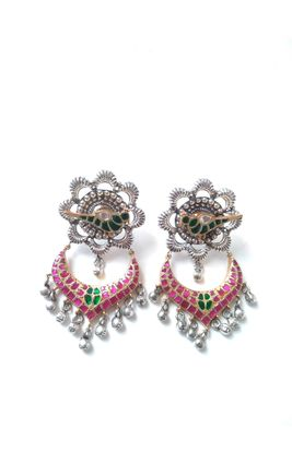 92.5 SILVER TEMPLE PARROT EARRING