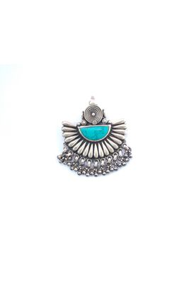 92.5 SILVER TURQUOISE STONE PENDANT