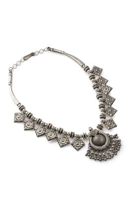 SILVER OXIDISED NECKLACE